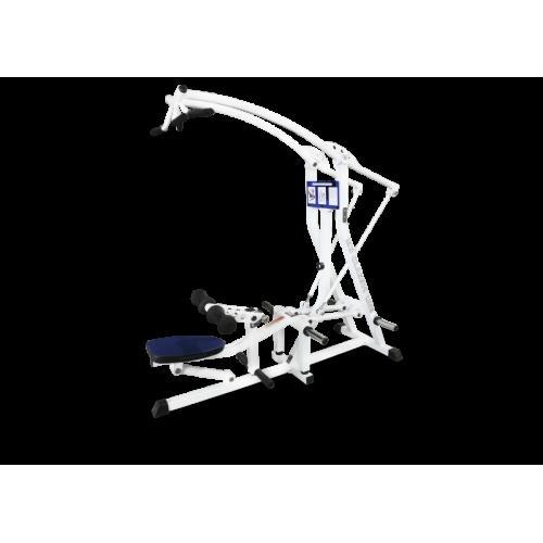 Вертикальная тяга вниз с разведением  рычажная, свободные веса MB 4.28 белый MB Barbell