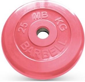 Диск для штанги 25кг d=51мм красный MB-PltC51-25 MB Barbell