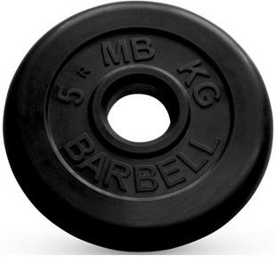 Диск ф50 мм, 5 кг, черный MB-PltB50-5 MB Barbell