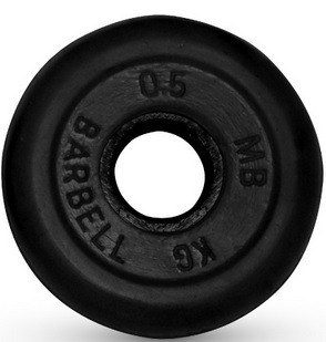 Диск для штанги 0,5кг d=26мм черный MB-PltB26-0,5 MB Barbell