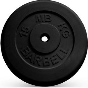 Диск ф26 мм, 15 кг, черный MB-PltB26-15 MB Barbell