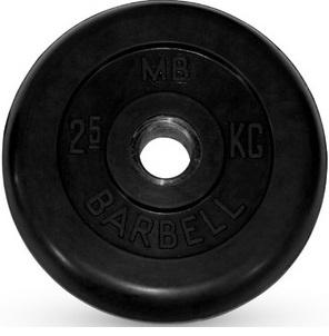 Диск для штанги 2,5кг d=26мм черный MB-PltB26-2,5 MB Barbell
