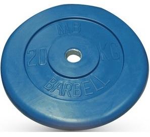 Диск для штанги 20кг d=26мм синий MB-PltC26-20 MB Barbell
