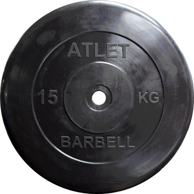 Диск ф26 мм, 20 кг, черный MB-AtletB26-20 MB Barbell