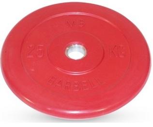 Диск ф26 мм, 25 кг, красный MB-PltC26-25 MB Barbell