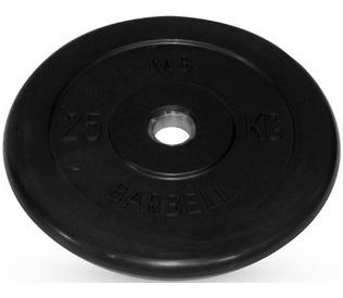disk_dlya_shtangi_25kg_d26mm_chernyy_mb-pltb26-25_mb_barbell