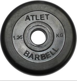 Диск для штанги 5кг d=26мм черный MB-AtletB26-5 MB Barbell
