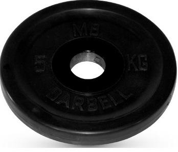 Диск ф26 мм, 5 кг, черный MB-PltB26-5 MB Barbell