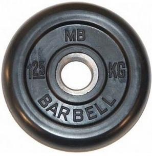 Диск для штанги 1,25кг d=31мм черный MB-PltB31-1,25 MB Barbell