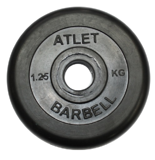 Диск ф31 мм, 1,25 кг, черный MB-AtletB31-1,25 MB Barbell