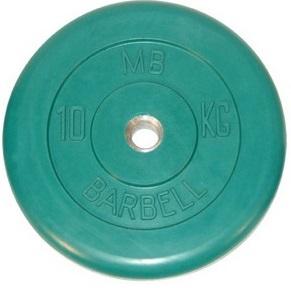 Диск ф31 мм, 10 кг, зеленый MB-PltC31-10 MB Barbell