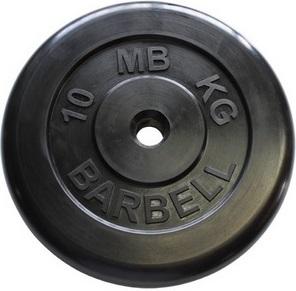 Диск для штанги 10кг d=31мм черный MB-PltB31-10 MB Barbell