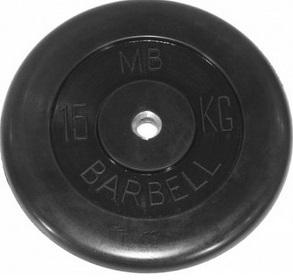 Диск для штанги 15кг d=31мм черный MB-PltB31-15 MB Barbell