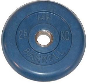 Диск для штанги 2,5кг d=31мм синий MB-PltC31-2,5 MB Barbell