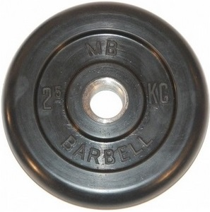 Диск для штанги 2,5кг d=31мм черный MB-PltB31-2,5 MB Barbell