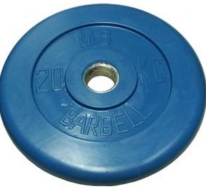 Диск для штанги 20кг d=31мм синий MB-PltC31-20 MB Barbell
