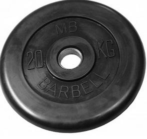 Диск для штанги 20кг d=31мм черный MB-PltB31-20 MB Barbell