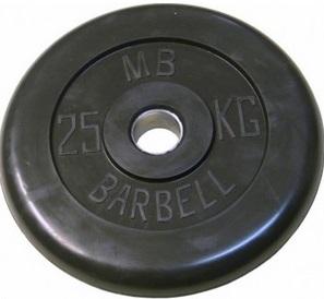 Диск для штанги 25кг d=31мм черный MB-PltB31-25 MB Barbell