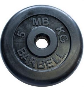 Диск для штанги 5кг d=31мм черный MB-PltB31-5 MB Barbell