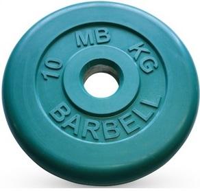 Диск для штанги 10кг d=51мм зелёный MB-PltC51-10 MB Barbell