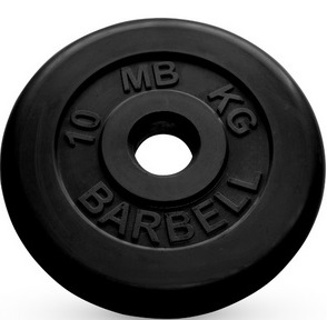 Диск ф50 мм, 10 кг, черный MB-PltB50-10 MB Barbell