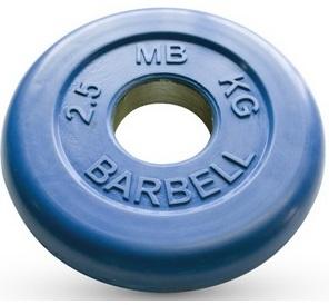 Диск для штанги 2,5кг d=50мм синий MB-PltC50-2,5 MB Barbell