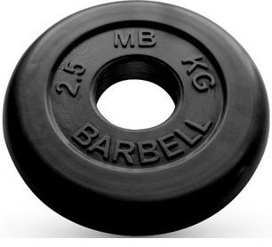 Диск для штанги 2,5кг d=51мм черный MB-PltB51-2,5 MB Barbell