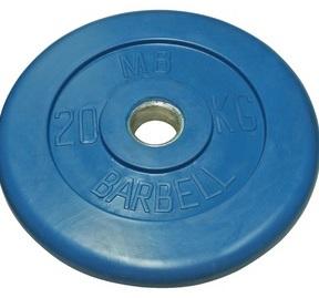 Диск для штанги 20кг d=51мм синий MB-PltC51-20 MB Barbell
