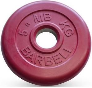 Диск для штанги 5кг d=51мм красный MB-PltC51-5 MB Barbell