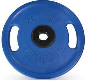 Диск для штанги 20кг d=51мм синий евро-классик с ручками MB-PltCS-20 MB Barbell