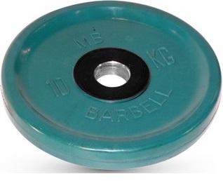 Диск ф50 мм, евро-классик, 10 кг, зеленый MB-PltCE-10 MB Barbell