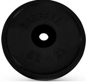 Диск для штанги 15кг d=51мм черный евро-классик MB-PltBE-15 MB Barbell