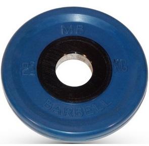 Диск для штанги 2,5кг d=51мм синий евро-классик MB-PltCE-2,5 MB Barbell