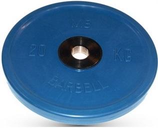 Диск для штанги 20кг d=50мм синий евро-классик MB-PltCE-20 MB Barbell