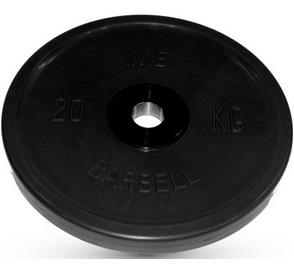Диск ф50 мм, евро-классик, 20 кг, черный MB-PltBE-20 MB Barbell