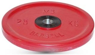 Диск для штанги 25кг d=51мм красный евро-классик MB-PltCE-25 MB Barbell