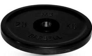 Диск для штанги 25кг d=51мм черный евро-классик MB-PltBE-25 MB Barbell