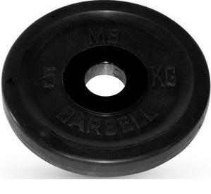Диск ф50 мм, евро-классик, 5 кг, черный MB-PltBE-5 MB Barbell