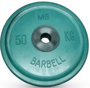 Диск для штанги 50кг d=51мм зеленый евро-классик MB-PltCE-50 MB Barbell