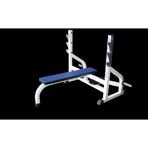 Скамья-стойка для жима штанги лежа MB 2.06 белый MB Barbell