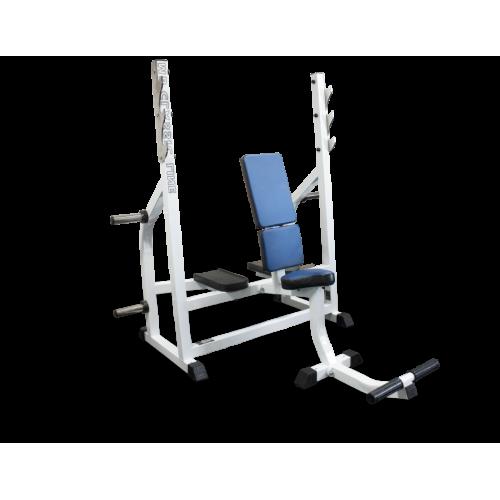 Скамья-стойка для жима штанги сидя MB 2.14 серый MB Barbell