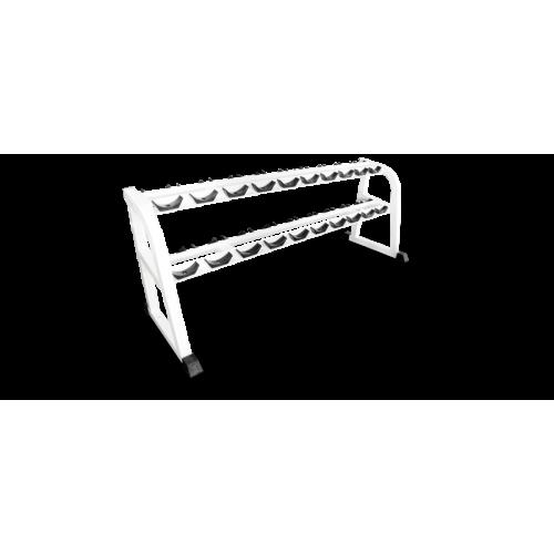 Стойка для хранения 10 пар проф. гантелей MB 1.16 белый MB Barbell
