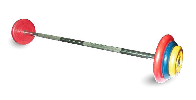 Штанга спортивная неразборная, цветная d=25мм, 45 кг MB-BarMW-C45 MB Barbell