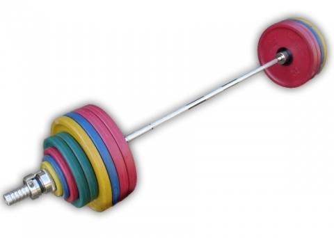 Штанга олимпийская, цветная евро-классик с ручками d=50мм, 180 кг HARD MB-CE50-180-2200 MB Barbell