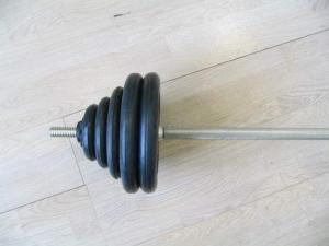 Штанга разборная, черная d=26мм, 118,2 кг MB-B26-118,2-1800 MB Barbell