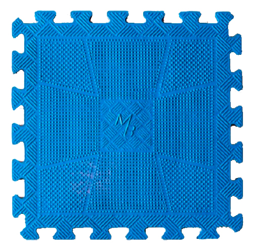 Коврик резиновый, 12 мм MB-MatCL-12 синий MB Barbell