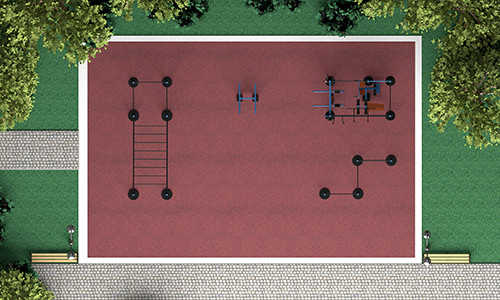 Уличные тренажеры на 60 м2 MB-M60 MB Barbell