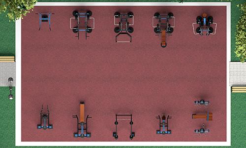 Уличные тренажеры на 90 м2 MB-M90 MB Barbell