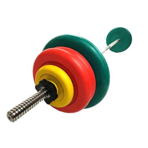 Штанга разборная, цветная d=30мм, 48,3 кг MB-B30-48,3-1250 MB Barbell