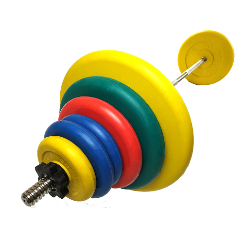 Штанга разборная, цветная d=30мм, 78,3 кг MB-B30-78,3-1250 MB Barbell